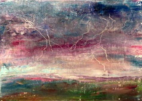 Just Before the Rain Falls_sơn dầu của Karla  Nolan