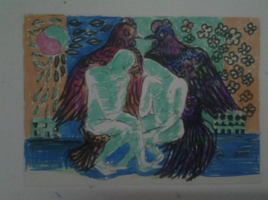 Nghệ thuật - Tranh Gà 2