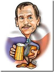 Chân dung biếm họa nhà văn Vaclav Havel