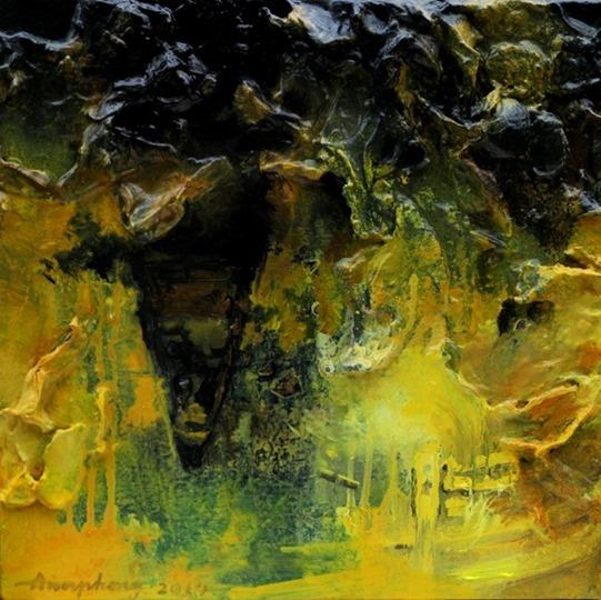 ann phong, dark water, mixed media, 14x14, 2014_thumb[1]