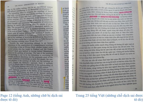 """Vài lời hồi đáp cho """"Vài nhận xét…"""" về việc dịch thuật cuốn Sự kiến tạo xã hội về thực tại"""